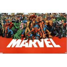 Marvel Heroes (Full Cast) Art Poster Print