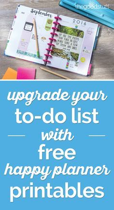 Upgrade Your To-Do List With Happy Planner Printables | thegoodstuff