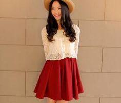 crochet lace top + mini dress