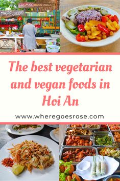 Where to eat vegetarian and vegan food in Hoi An. The best vegan and vegetarian restaurants in Hoi An and dishes to try Vegan Foods, Vegan Dishes, Vegan Vegetarian, Vegetarian Recipes, Vegetarian Restaurants, Indian Food Recipes, Ethnic Recipes, Backpacking Food, Hoi An