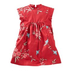 Between the print and the mandarin collar, this dress makes a beautiful impression.