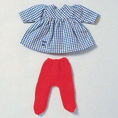 Gotz baby outfit - similar to Baby bird Romper Outfit, Tights Outfit, Red Tights, Smocking, Gingham, That Look, Rompers, The Originals, How To Make
