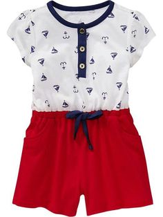 0369650b0 Nautical romper Baby Girl Clothes Sale, Toddler Girl Outfits, Toddler  Fashion, Baby Outfits
