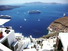 Santorini. Blue Sea photography. Aegean. by S4StarSbySiSSy on Etsy