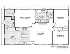d6e22803230c8b56b82de6ee2dbefa57 Sandlewood Fleetwood Single Wide Mobile Home Floor Plans on