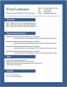 Resume Templates For Students On Pinterest Student