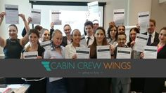 Our 2 day Get a Cabin Crew Job course has now been running for 12 months! Our aim at Cabin Crew Wings is to do everything we can to. Cabin Crew Jobs, Crew Hair, Guest Cabin, Online S, Job S, Real Life, Wings, Birthday, Birthdays