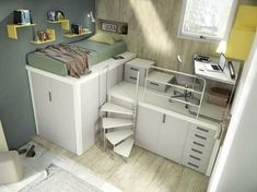 Girls bedroom ideas for every child - Extraordinary girl youth bedroom furniture sets just on homesaholic home design Cute Bedroom Ideas, Kids Bedroom Sets, Room Ideas Bedroom, Small Room Bedroom, Bedroom Loft, Bedroom Furniture Sets, Awesome Bedrooms, Cool Rooms, Dream Bedroom