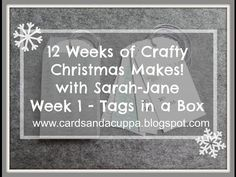 Sarah-Jane Rae cardsandacuppa: Stampin' Up! UK Order Online 24/7: 12 Weeks of Crafty Christmas Makes. Week 1 - Tags in a Box using Stampin' Up! Supplies