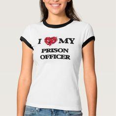 I love my Prison Officer T Shirt, Hoodie Sweatshirt