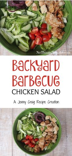 Jenny Craig Recipe Creation: Backyard BBQ Chicken Salad