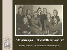 Lottajärjestö lakkautettiin 23.11.1944. Mitä jäi jäljelle?  #lottasvärd#lottamuseo Frame, Movies, Movie Posters, Picture Frame, Films, Film Poster, Cinema, Movie, Film