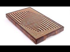 CNC Project: Kerf Chair Designed by Boris Goldberg w& Tool Industrial . End Grain Cutting Board, Diy Cutting Board, Custom Cutting Boards, Wood Shop Projects, Cnc Projects, Woodworking Projects Diy, Woodworking Router Bits, Woodworking Techniques, Woodworking Inspiration