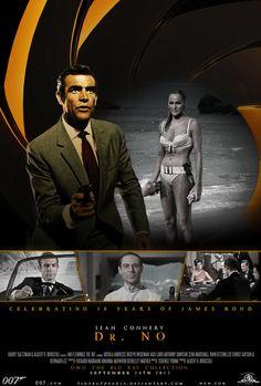 Bond 50: Dr. No (1962) Blu Ray Poster by TinyButDeadly.deviantart.com