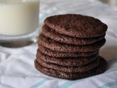 Chewy Chocolate Orange Cookies - I've always been intrigued with orange and chocolate. Must try this!