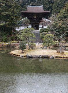 奈良市 円成寺 薄氷 Enjō-ji. The ancient capital of Nara, Japan