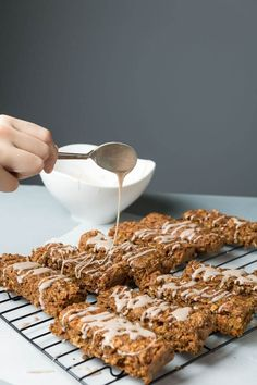 Carrot Cake Breakfast Bars vegan frosting fat-free dairy-free cinnamon carrot cake carrot Breakfast bars