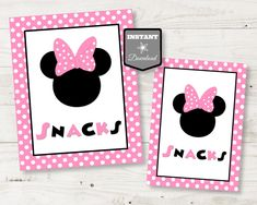 10 XL Large Card Mickey Mouse /& Pink Bow Birthday Baby Shower Table confetti