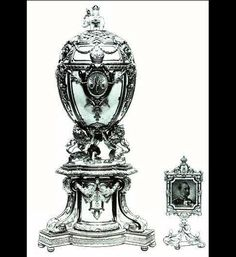 Lost Faberge Imperial Eggs: Hen with Sapphire Pendant (1886); Cherub with Chariot Egg (1888); Necessaire Egg (1889);