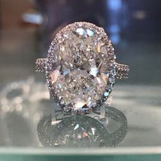 Wow!  Stunning 6.22 Oval diamond engagement ring!  Available at Alson Jewelers.  Call 216-4646-6767 for more information.  www.alsonjewelers.com