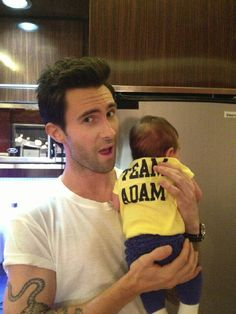 """@CarsonDaly: """"Maybe @adamlevine is thinking about settling down?? (NOPE!) that's my baby Etta Jones :)"""" #TheVoice #TeamAdam"""