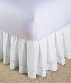"""Hemstitch Bed Skirt 14"""" drop"""