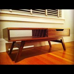 The Slatted Coffee Table // Mid Century Modern // American Walnut ~totally want one!