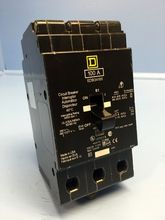 Square D EDB34100 100 Amp Circuit Breaker 277/240V 3 Pole EDB HACR SqD 100A IAD