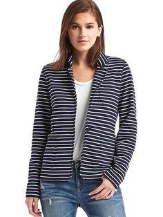 French terry stripe blazer 47.96