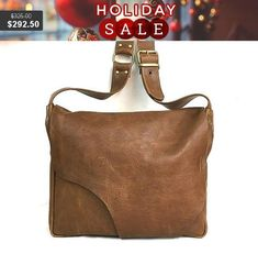 Beautifully Handcrafted Brown Leather Bag. For Women & Men.