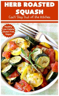 Baked Squash And Zucchini Recipes, Yellow Squash And Zucchini, Roasted Summer Vegetables, Roasted Squash, Glass Baking Dish, Side Dishes Easy, Vegetarian Meals, Birthday Bash, Weeknight Meals