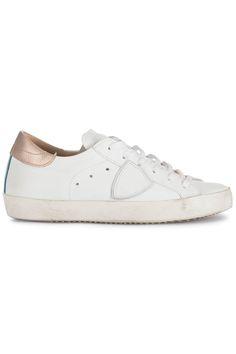 Stoere Philippe Model Classic bassa D gold/white (wit) Dames sneakers van het merk philippe model . Uitgevoerd in wit.