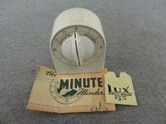 Vintage White Lux Minute Minder Kitchen Timer Kitchen Timers, Cooking Timer, Ebay, Vintage, Vintage Comics