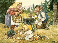 Rolf Lidberg Illustrations, Illustration Art, Fairy Sketch, Baumgarten, Cool Artwork, Pretty Pictures, Gnomes, Adult Coloring, Vikings