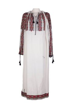 It is a unique piece, entirely embroidered by hand with traditional Romanian motifs and colours. Dare and be unique with it! Handmade Dresses, Romania, Cold Shoulder Dress, Colours, Colorful, Traditional, Unique, Collection, Vintage