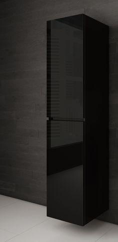 Lingerie salle de bain noire - AQUA MOBILIA. Disponible chez Montréal - Les - Bains Tall Cabinet Storage, Locker Storage, Aqua, Lingerie, Divider, Room, Furniture, Home Decor, Budget