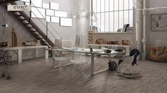 Riabita Industrial Porcelain Tile - 16 x 32 - 100048081 Commercial Flooring, Contemporary Ceramics, Floor Decor, Clean Design, Tile Design, Porcelain Tile, Home Remodeling, Tile Floor, Tiles
