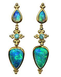 Paula Crevoshay -Opal earrings