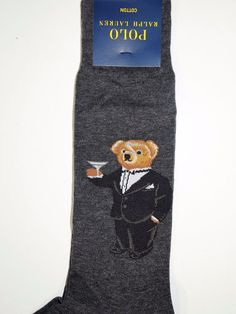 Polo Ralph Lauren bear in tux with martini sock unique item gray  #PoloRalphLauren #Dress