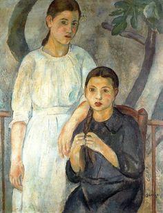 'Two Sisters', 1916 - Joaquim Sunyer