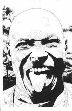 Splash Page Comic Art :: For Sale Artwork :: Punisher by artist Tim Bradstreet