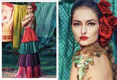 Cigana; Editorial; Gypsy; Red roses
