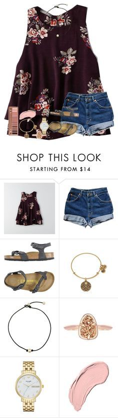 """900 followers!! "" by kyliegrace ❤ liked on Polyvore featuring beauty, American Eagle Outfitters, Birkenstock, Alex and Ani, Urban Decay, Kendra Scott, Kate Spade and NYX"