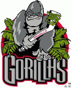 384aedae25a Amarillo Gorillas Primary Logo - Central Hockey League (CeHL) Hockey Logos,  Sports Logos