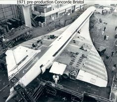 https://flic.kr/p/dgdb2R | Bristol Aviation History - Concorde, Filton | 25th May 1971 - Concorde 001 flies 2,800 statute miles on first overseas flight to Dakar, Senegal in 2 hours 35 minutes (1/2 subsonic time)