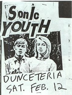 Sonic Youth flyer 1983