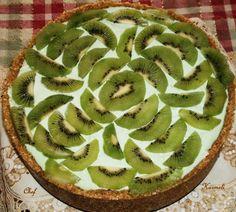 Cheesecake limonizado con kiwi sin horno
