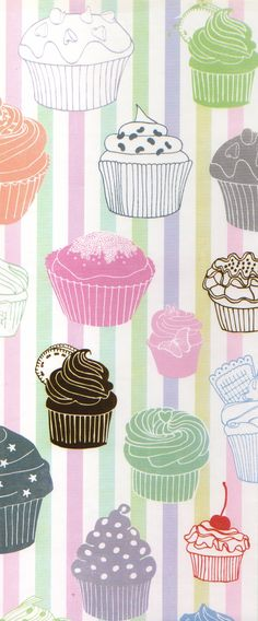Cupcake wrapping paper pattern