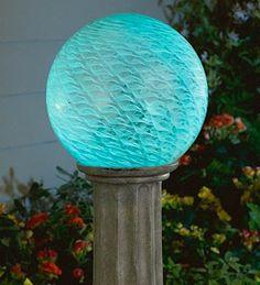 Cirrus Gazing Ball ( Your Favorite Color ) · Night GardenMOON GARDENSolar  ...