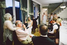 John and Alex's Intimate 30 Guest Reception in the east tower of Springfield Castle in Ireland. See their gorgeous photos by Stephanie & Ben from Taylor Clark Photography  @intimateweddings.com #receptions #smallweddings#castlewedding